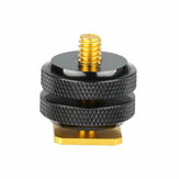 Hot Shoe Adapter Converter Mount 1/4 Inch Standard Screw for DLSR Camera