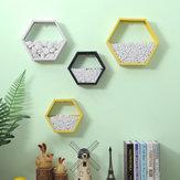 Moderne Simple Hexagon Væggehængende Opbevaringshylde Blomsterplant Rack Boghylde Kontor Hjem dekorationer Stand