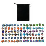Dices Polyhedral 84PCS Set For Dungeons & Dragons Dice Desktop DPG Game Dices