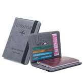 Travel Leather Passport Holder Portable Document Card Case Cover Wallet Men Bag