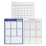 Lavagna magnetica mensile settimanale Adesivo per lavagna da parete Piano per promemoria Shopping List Board
