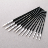12 Pcs/Lot Paint Brush Different Size Black Short Rod White Nylon Hair Oil Painting Brushes Watercolor Acrylic Art Drawing Brush Tools