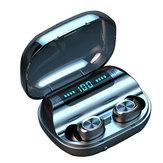 ミニTWSワイヤレスイヤホンブルートゥース5.0イヤホンLEDディスプレイHiFiステレオスマートタッチヘッドフォン1200mAhパワーバンク付き