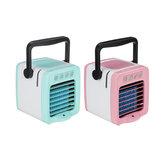 USB Mini Griff Luftkühler Befeuchtung Reinigung 300ml Wassertank LED Licht Fan