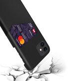 Bakeey Custodia in pelle PU di lusso con slot per schede Custodia protettiva anti-graffio anti-graffio per iPhone 11 da 5,8 pollici