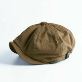 Collrown Men Vintage Painter Baret Caps Octagonal Newsboy Cap Cabbie Ivy Flat Hat