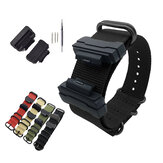 Bakeey 22mm Nylon Strap Replacement Watch Band with TPU Conversion Kit & Pins for Casio G-SHOCK GA-110 DW-5600 GLS GA