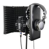57.5 x 28cm折りたたみ式調整可能スタジオ録音マイクアイソレーター吸音フォームパネルマイクアイソレーションシールドスタンドマウント