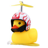 Motorcycle Bicycle Car Bell Broken Wind Duck Riding Light Cycling Accessories Small Yellow Duck Helmet Child Horn
