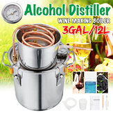 3GAL/12L Distiller Copper Moonshine Ethanol Alcohol Water Distiller Still Stainless Boiler