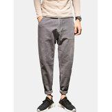 Mens Casual Cotton Corduroy Plus Size Loose Pants