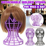 Detachable Wig Hat Cap Stand Hair Holder Mannequin Head Stable Display Tool