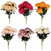 Decorazioni per la stanza del matrimonio a casa a 7 teste con bouquet di fiori di garofano di seta artificiale