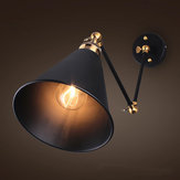 Vintage Retro Industrial Swing Arm Sconce Wall Light Loft Lamp Fixture Fitting(Material: Copper+Iron)