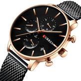 CURREN 8339  Fashion Business Large Dial Quartz Men Watch