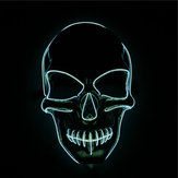 Halloween LED Luminous Horror EL Wire Light Up Costume Skull Mask Holiday Ball Party Decor