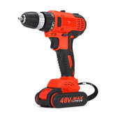 48VF 2000mAh Cordless Rechargeable Brushless Electric Drill W/ 1or 2 Battery