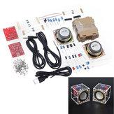 DIY Elektronik 3W Speaker Produksi Kit dengan Shell Transparan 2.36inch 1 Mini Komputer Audio Elektronik DIY Kit