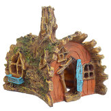 Ornamento della caverna del castello nascondentesi dell'acquario della decorazione dell'albero dell'acquario della casa dell'albero della resina