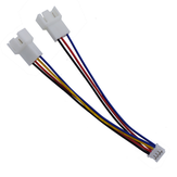 12cm PH2.0 Small 4Pin to Double 3Pin/4Pin Graphics Card to Fan Cable Power Adapter Cable Lead Wire