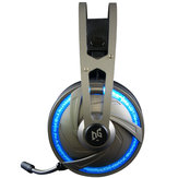 A60 Gaming-hovedtelefon USB 7.1-kanals RGB Light Over-Ear Stereo Headset til bærbar computer