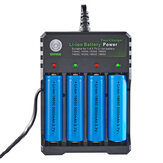 BMAX 4 Slot 18650/14500/16650/16340 Li-ion Battery Charger EU Plug AC Plug Portable Charger