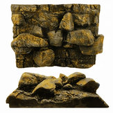 3D PU Rock Stone Aquarium Background Pano de fundo réptil Board Fish Tank Decorations