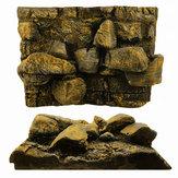 3D PU Rock Stone Aquarium Background Backdrop Reptile Board Fish Tank Decorations