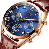Lige9852ВодонепроницаемыСветящиесяДисплейМужские наручные часы