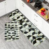 Tapis lavable de tapis de chemin de maison de porte de salle de bains de tapis de plancher de cuisine non glissante 75-180cm