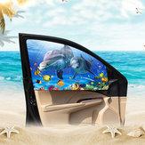 Cortina de coche magnética de dibujos animados Visor de sombra de sol ajustable Ventana de coche Bloques solares Bloqueador de bebé UV Protección contra rayos