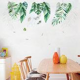 Miico FX82019 2 STKS Botanic Leaves Muursticker Decoratieve sticker Verwijderbare sticker DIY sticker