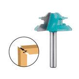 Drillpro 1/4 дюймов Хвостовик 45 градусов Замок Фреза со сменной головкой 1-1 / 2 дюймов Диаметр резания Tenon Деревообрабатывающий резак