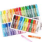 18/12/24/36 Colores Oil Pasteles No tóxico Crayón Dibujo Pintura Bolígrafos Artistas Estudiantes Suministros de arte Regalos para niños