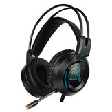 V2000 Omnidirectional 3.5mm Audio Light Weight Wired Control Headphone 53mm Sound Unit Noise Canceling Gaming Headset