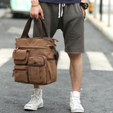Men Canvas Large Capacity Multi-slot Crossbody Bag