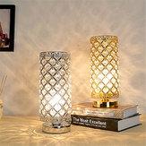 Candeeiro de mesa de cristal Lâmpada de leitura Mesa de cabeceira Nightstand para quarto Sala de estar