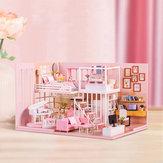 Casa di bambola del regalo di compleanno della ragazza Cuore della casa fatta a mano creativa creativa di DIY