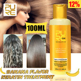 PURC 12% Banana Flavor Keratin Treatment Straightening Hair Repair Damage 100ml