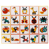 Gralara De Madeira Montessori Animal Block Animal Puzzle Jigsaw Game Toy Educacional