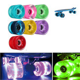 4 Pcs 60x45mm LED Light Skateboard Wheels Scooters Wheels Accessories