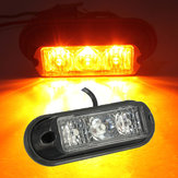 3 LED-knipperen Strobe Recovery Beacon Lights Breakdown Lamp Trunk Vrachtwagens Amber