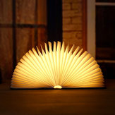 Wooden Folding Book Light Creative Flip Reading Book Lamp LED Night Light Mini Colorful Book Light