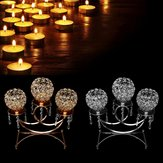 3 Arms Crystal Votive Candle Tealight Holder Wedding Table Centerpieces Candlestick Candelabra Decor
