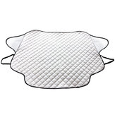 Silver Car Windshield Snow Cover Sun Shade Protector with Magnets for CRVs Trucks SUVs RVs