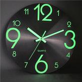 جدار مضيئة ساعةحائط رقم الكوارتز معلقة ساعةحائطs يتوهج في الظلام ديكور غرفة النوم