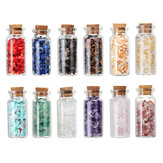 12 Type Crystals Gravel Wishing Bottle Gemstone Natural Quartz Stone Chip Mineral