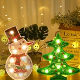 Creative Colorful Christmas Tree Snowman LED Night Light Decorative Table Lamp Home