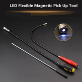 55cm Red Flexible Magnetic Magnet Suck Rod Pick Up Tool 3 Type LED Strong Magnet Universal Suck Rod Extendable Pickup Rod Stick