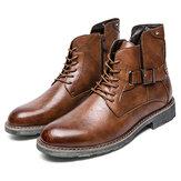 Męskie skórzane buty antypoślizgowe w stylu retro